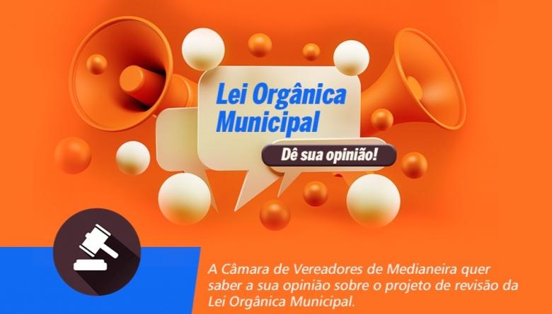[ENCERRADA] Convidamos a população para participar do Projeto de Revisão da Lei Orgânica