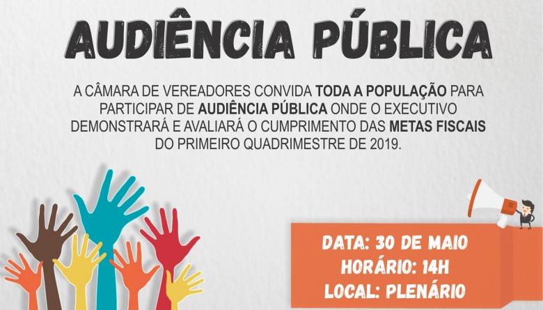 Câmara convoca Audiência Pública para prestação de contas do Poder Executivo Municipal