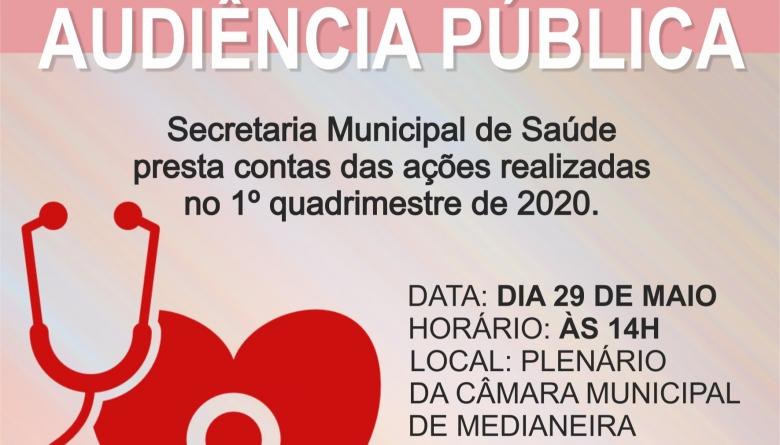 Secretaria Municipal de Saúde presta contas das ações realizadas no 1º quadrimestre de 2020