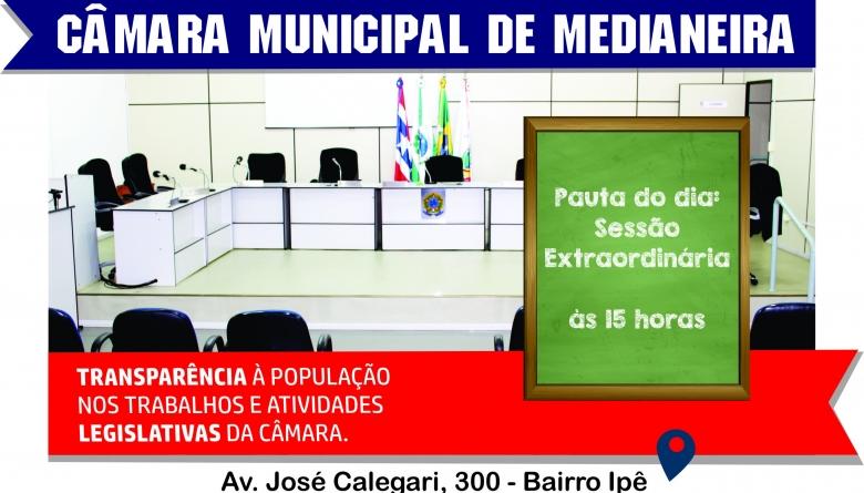 Sessão extraordinária vai eleger Comissões Permanentes no Legislativo de Medianeira
