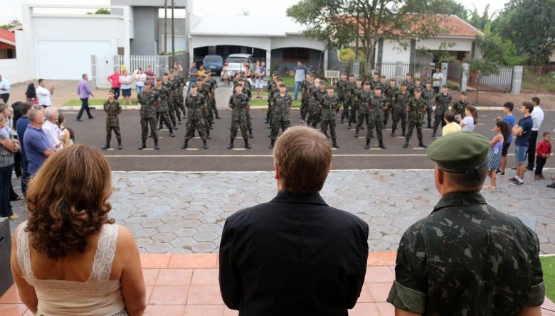 Tiro de Guerra 05-018 Medianeira realiza formatura de matrícula de 40 novos atiradores