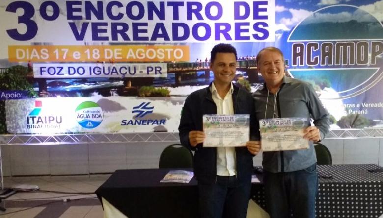 Vereadores participam de 3° Encontro de Vereadores do Paraná
