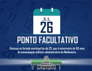 Câmara Municipal de Medianeira estabelece ponto facultativo no dia 26 de julho