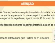 Câmara Municipal de Medianeira determina horário especial de atendimento