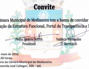Câmara Municipal dos Vereadores convida a comunidade para lançamento de seu novo site e Portal da Transparência