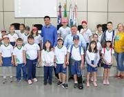 Câmara recebe visita de alunos do 3º Ano do Colégio Bertoni