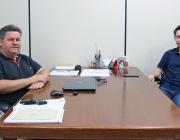 Presidente recebe visita de Cadini, vereador de Matelândia e presidente da ACAMOP