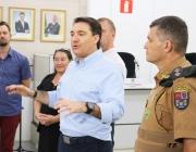 Deputado Giacobo esteve em Medianeira divulgando ações e visitando obras