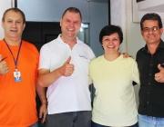 Ex-vereadora e Presidente visita membros do Legislativo