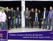 Poder Público se reúne para  inauguração da Quadra de Esportes coberta da Escola Jayme Canet