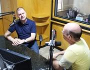 Presidente da Câmara, Pedro Seffrin, concede entrevista à Rádio Independência