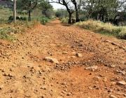 Presidente da comissão permanente de Obras vistoria condição de estrada no interior