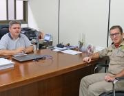 Presidente recebe visita do comandante geral do Corpo de Bombeiros de Medianeira