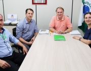 Presidência recebe visita de gestores da cooperativa de crédito Sicredi