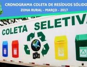 Secretaria de Agricultura inicia Coleta de Resíduos Sólidos no Interior