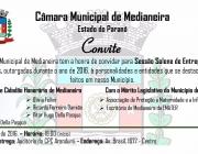 Sessão Solene com outorga de Títulos de  Cidadão Honorário de Medianeira na próxima sexta-feira